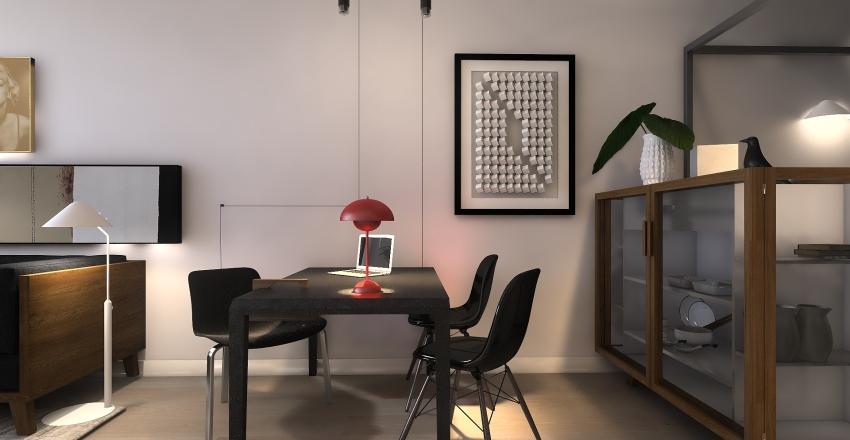 House in a garage Interior Design Render
