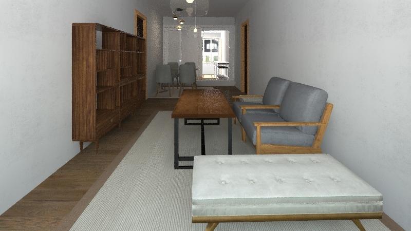 3 rm layout Interior Design Render