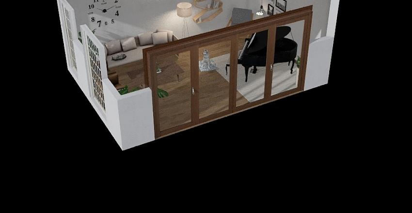 plan living room Interior Design Render