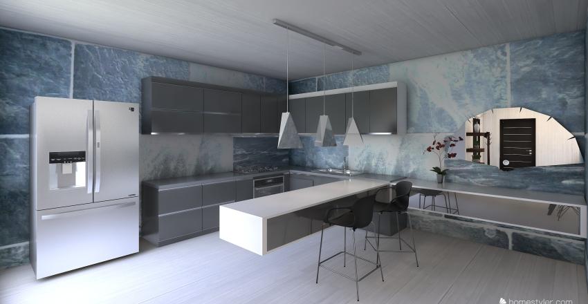 Empty Piano Interior Design Render
