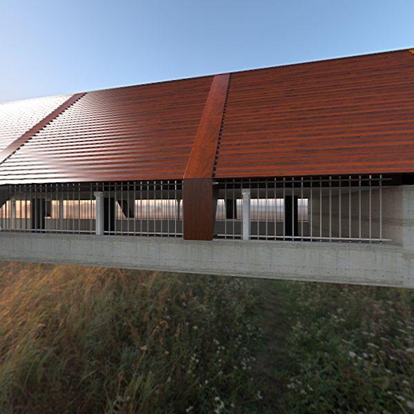 Palm roof barn Interior Design Render