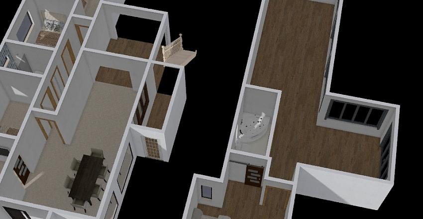 Casa Boituva Parte debaixo Interior Design Render