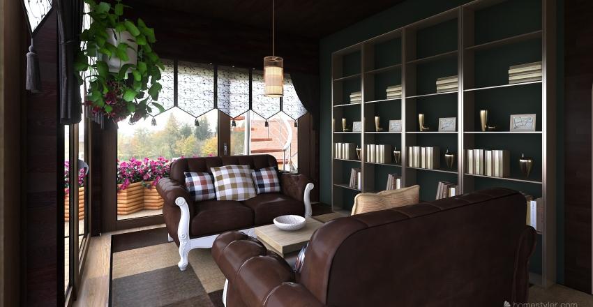 6 design_ woody house2 Interior Design Render