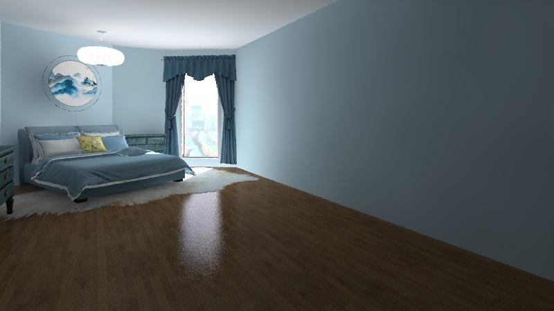 open house Interior Design Render