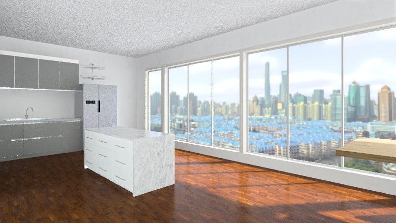 open kitchen Interior Design Render