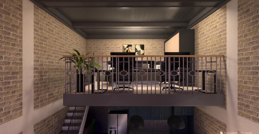 Loft 38m² Interior Design Render