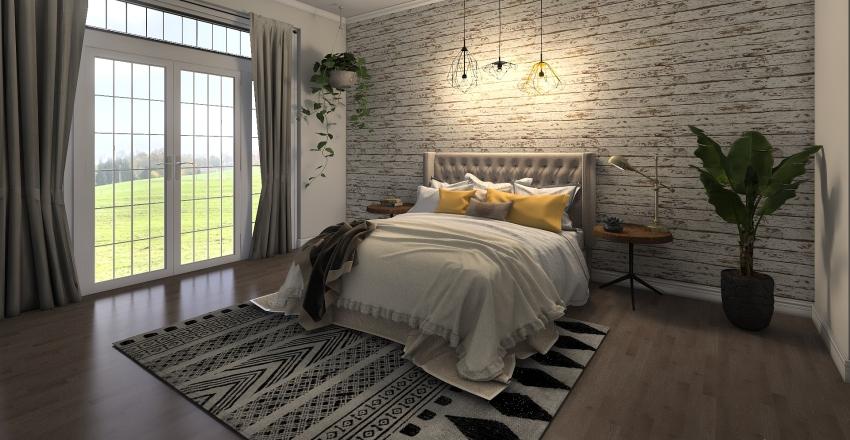 Modern Rustic  Interior Design Render