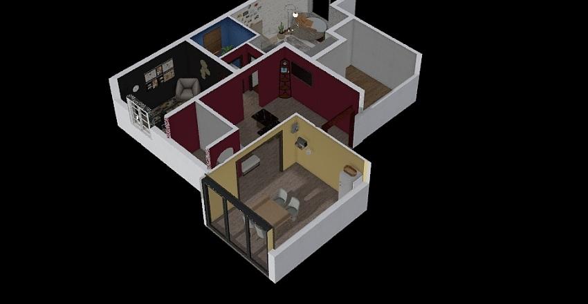 Depression House Interior Design Render