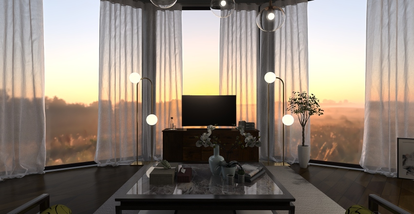 apartment in NY Interior Design Render