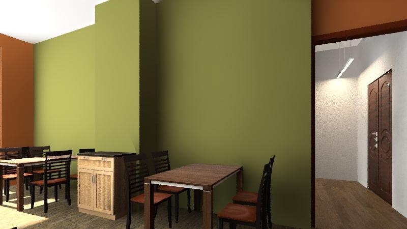 Кафе Победа V300 Interior Design Render