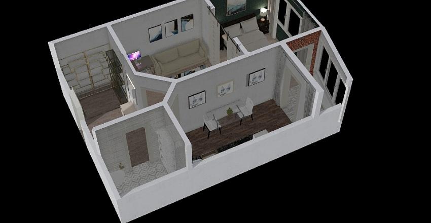 BLG Flat Interior Design Render