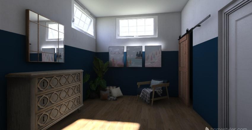 3 story home Interior Design Render