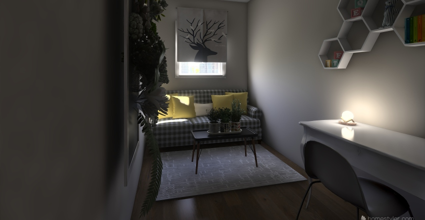 blok z wielkiej plyty Interior Design Render