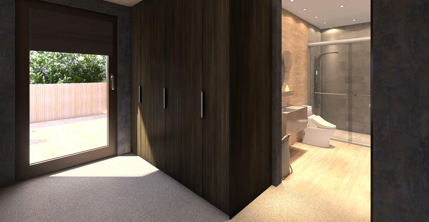 Modern Cabin Interior Design Render