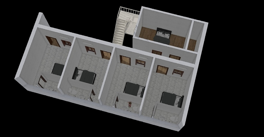 House for rent project Interior Design Render