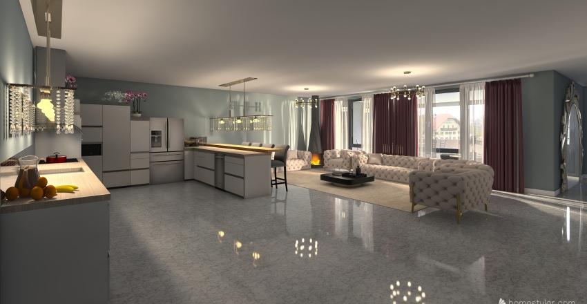 Simple Flat Interior Design Render