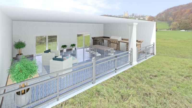 Balázs terasz Interior Design Render