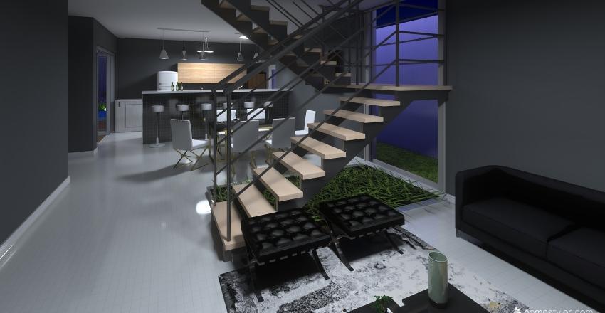 Planta Final decorada Interior Design Render