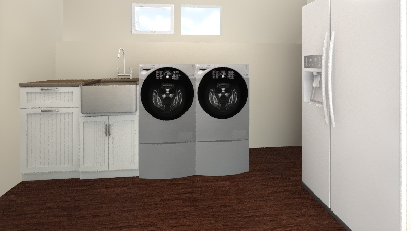 Laundry Room Interior Design Render