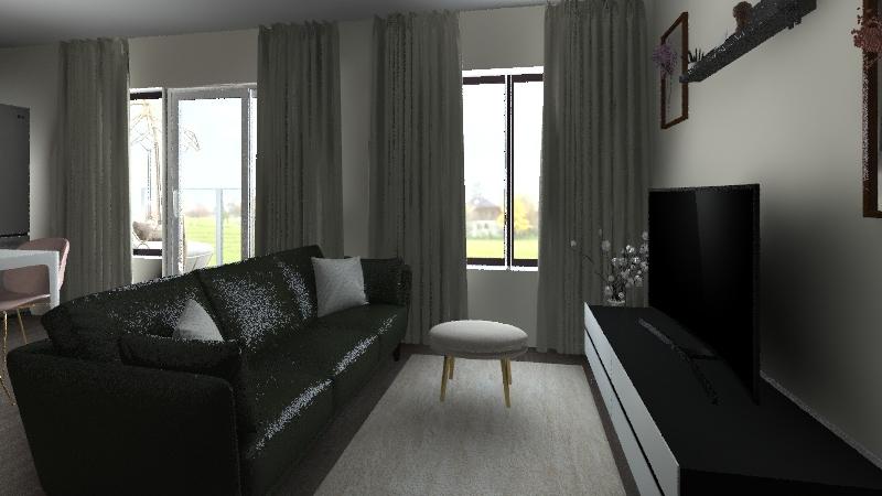 Modern single person downtown apartment Interior Design Render
