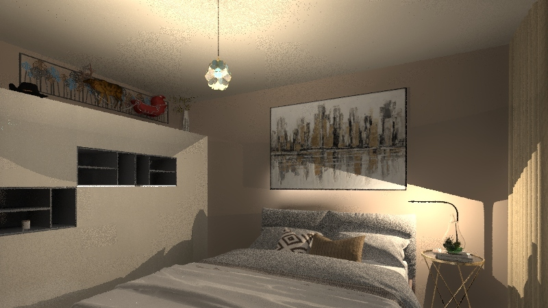 contemporary xmas Interior Design Render