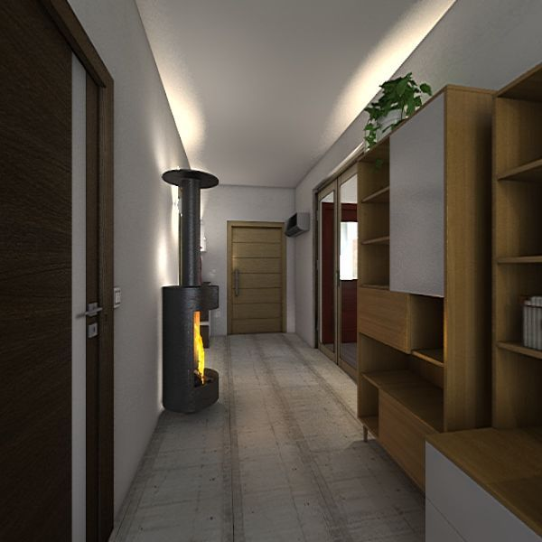 """<3 one 20"""" one 40"""" shipping container tiny home  Interior Design Render"""