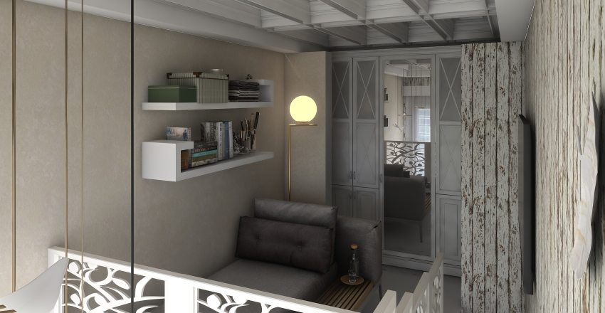 Modern Trailer Interior Design Render