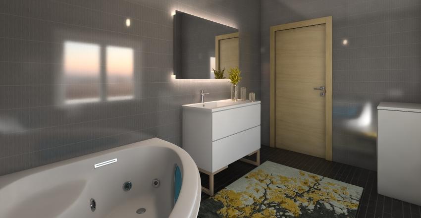 Yellow apartment Interior Design Render