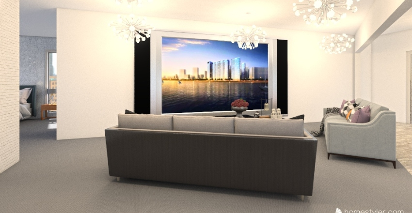 Modern Apartment Interior Design Render