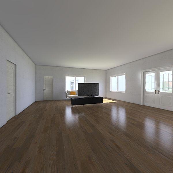 house w/ libary Interior Design Render