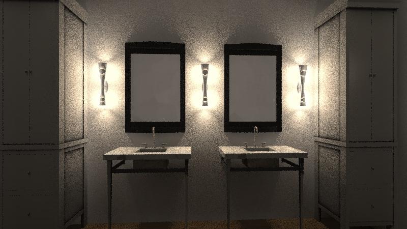 master bath layout Interior Design Render