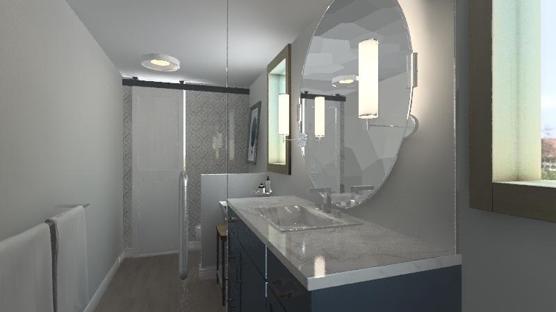 Loon Lake Master and Main Bath Interior Design Render