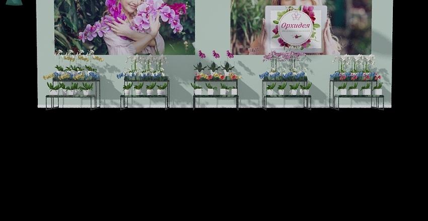 магазин orchid 1 Interior Design Render