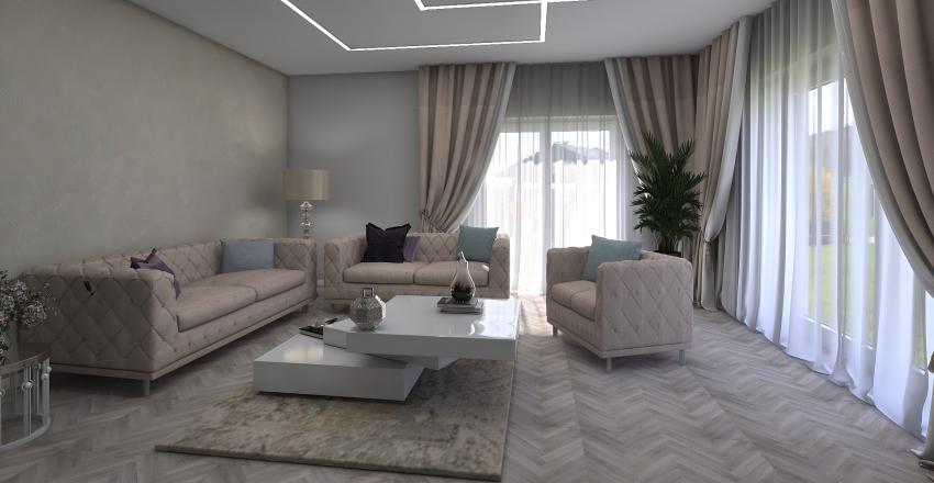 Alytus 100m2 luxury3-2-1 Interior Design Render
