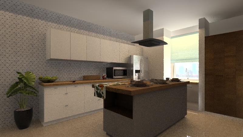 COCINA DUPLEX Interior Design Render
