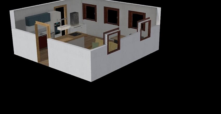 Petra-nova kuhinja Interior Design Render