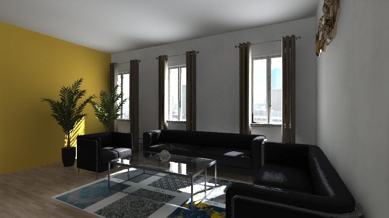 SALA VIVENDA DUPLEX Interior Design Render