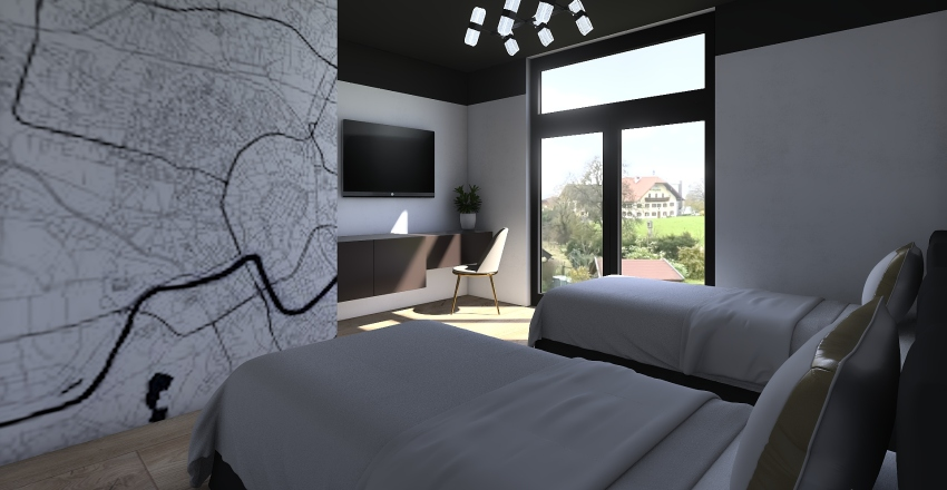 gotel room Interior Design Render