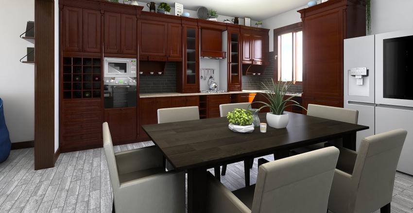 Brown and Gray Interior Design Render