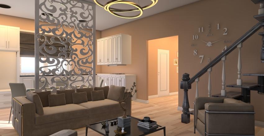 Красное Поле котедж Interior Design Render