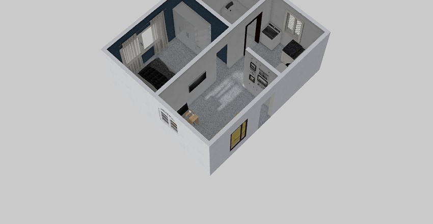 kontrakan Interior Design Render