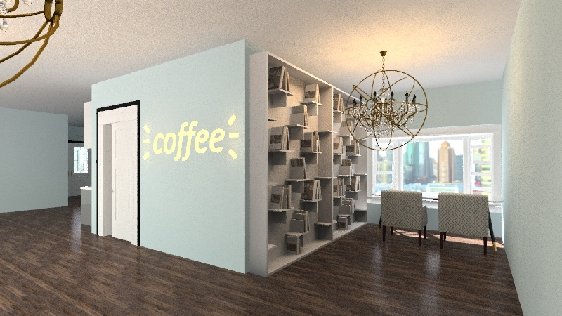 Bookstore Interior Design Render