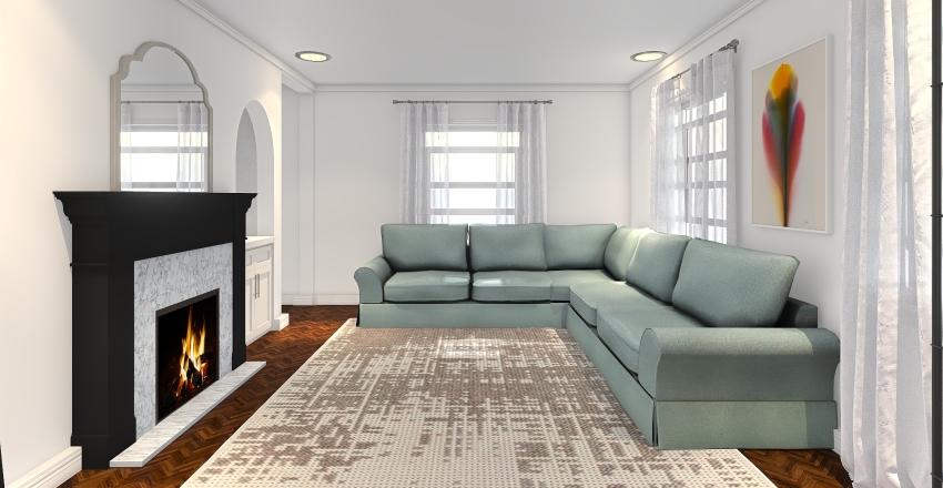 Michelle Living Room Interior Design Render