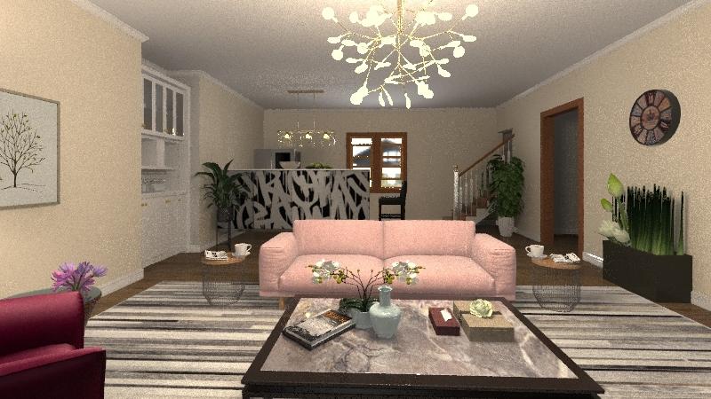 Jill's Living Room  Interior Design Render