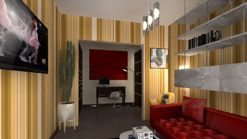 маршака гостинная вар 1 Interior Design Render