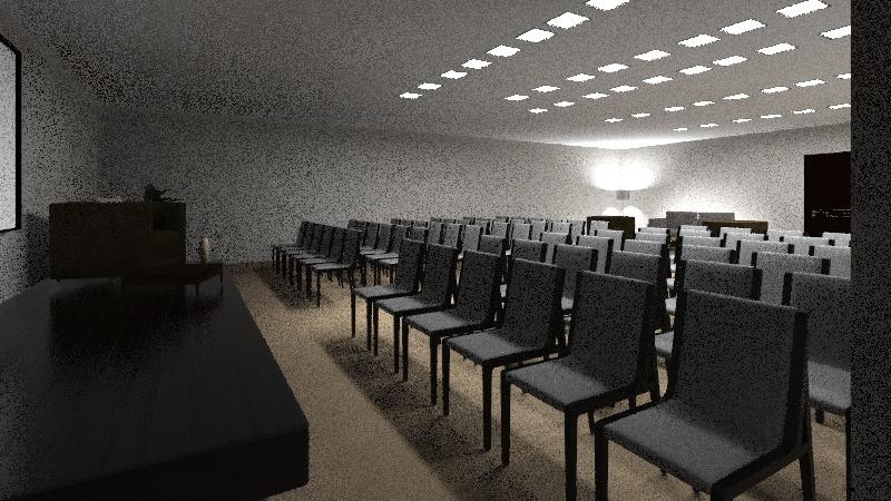 Salón Tres -matriz- Interior Design Render