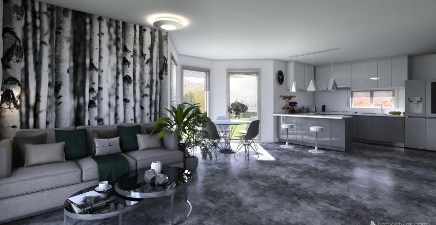 Małgosia salon Interior Design Render