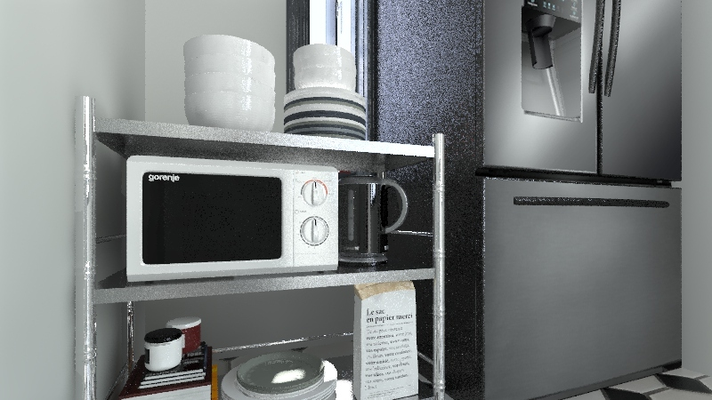 Food Trailer Interior Design Render