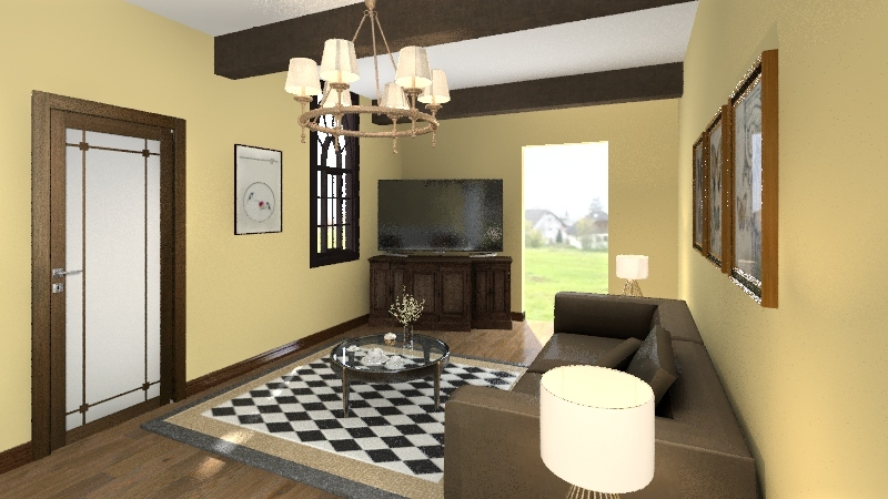 Jessica`s Living Room Interior Design Render