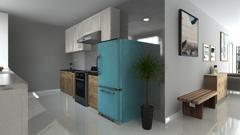 Small Apartment III Interior Design Render